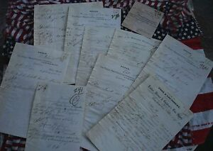 RARE COLLECTION LOT  OF ORDERS THE SINGER SEWING MACHINE MANUFACTURING CO. 1876