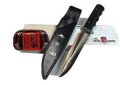 Vintage 1980' Rare Al Mar Seki Japan James N.Rowe LE Dagger Knife Box Mint