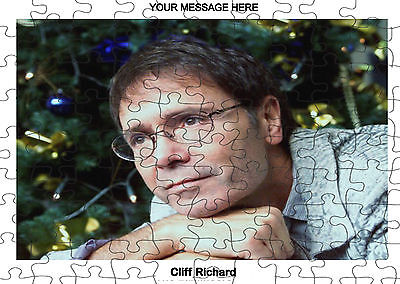 PERSONALISED CLIFF RICHARD  JIGSAW PUZZLE A4 120 PIECE Great Gift Idea  Free pp