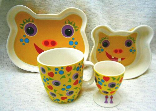 Maxwell & Williams Tickle Monster Eeter 4pc Children Dining Set Kids Porcelain