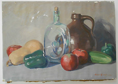 Original Signed Listed Artist Anton Kamp Still Life Oil Painting on Canvas on Rummage