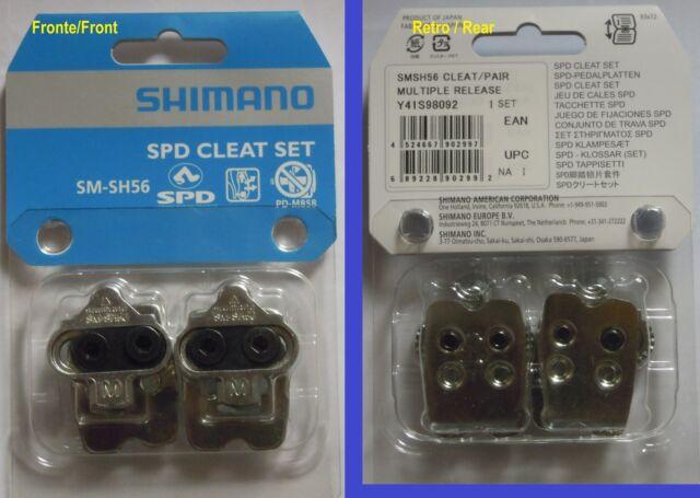 Shimano - Paar schuhplatten/Cleat Satz original SM-SH56 +schrauben+nut b - NEU