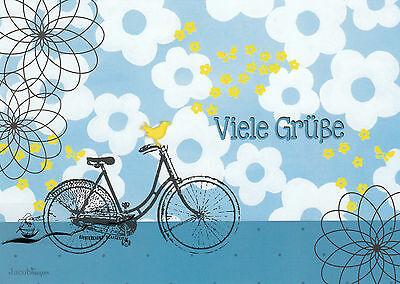 Postkarte: Kerstin Jacobmeyer - Viele Grüße ( Fahrrad)