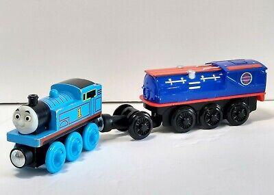 Thomas Wooden Railway Motorized Steam Booster Car W Thomas Train track battery