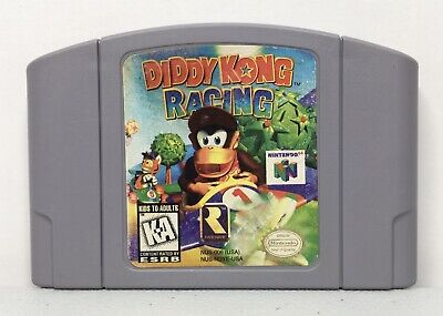 Nintendo 64 N64 Diddy Kong Racing Game Cartridge *Authentic/Cleaned/Tested*