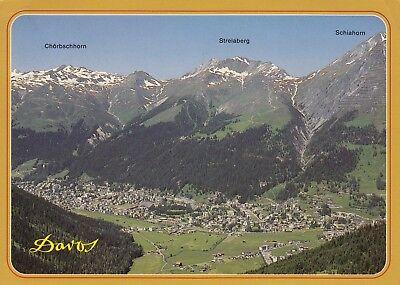 Alte Postkarte - Davos