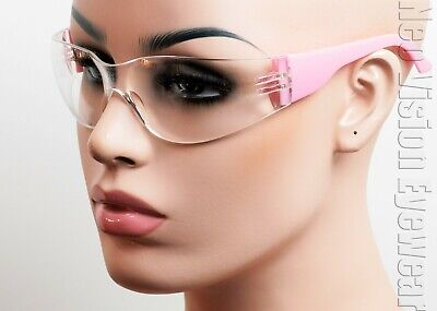 Erb Lucy Pink Frame Clearanti Fog Lens Safety Glasses Womens Z87 17946
