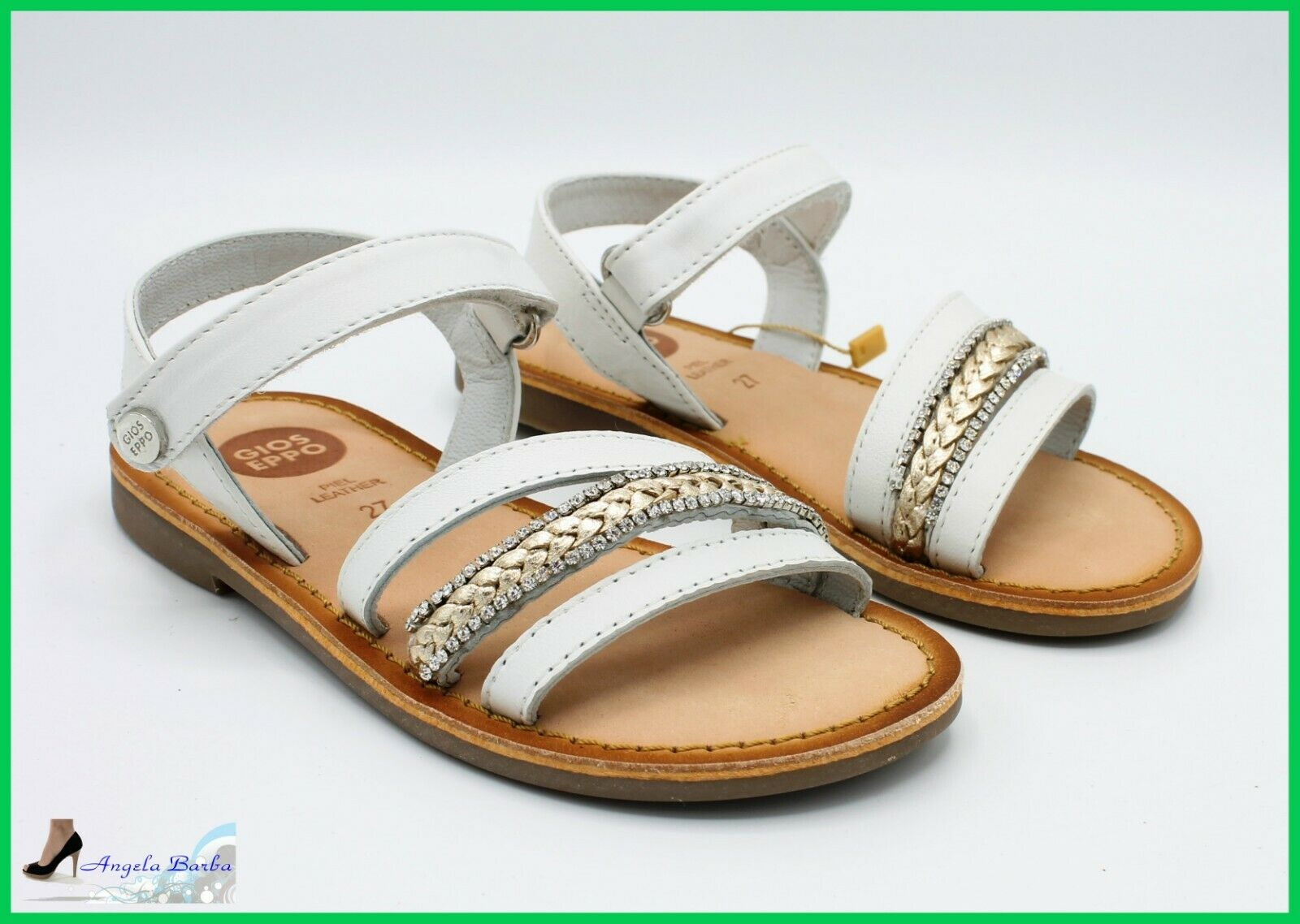 Gioseppo Sandals Baby for Ceremony Elegant Sandal Baby Girl Leather Leather