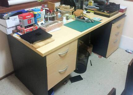 Desk & Filing Cabinet Thornleigh Hornsby Area Preview