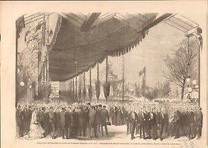 Exposition Universelle Paris Reception Napoleon III Velum GRAVURE OLD PRINT 1867 - France - Type: Gravure Authenticité: Original Période: XIXme et avant - France