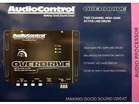 AudioControl Overdrive Plus Black Two Channel High-Gain Active Line Driver AUDIO CONTROL