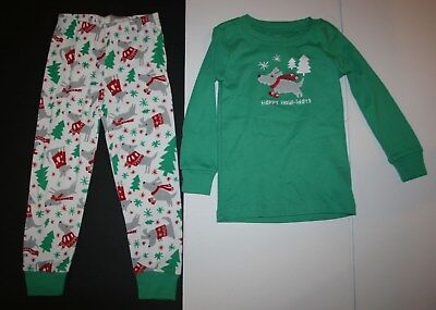 NEW Gymboree Boys Holiday Pajamas Gymmies PJs 3 5 6 7 10 Puppy Dog Snow 2 Piece (Boys Holiday Pajamas)
