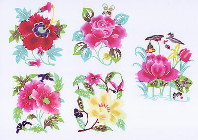 Chinese paper cuts insects over flower set a 8 colorful small pieces chinese paper cuts insects over flower set a 8 colorful small pieces zhou mightylinksfo