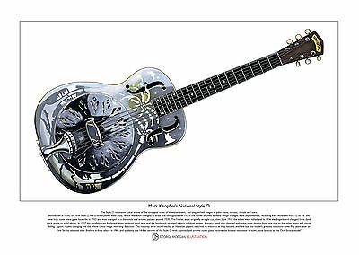 Mark Knopfler's National Style 0 Limited Edition Fine Art Print A3 size