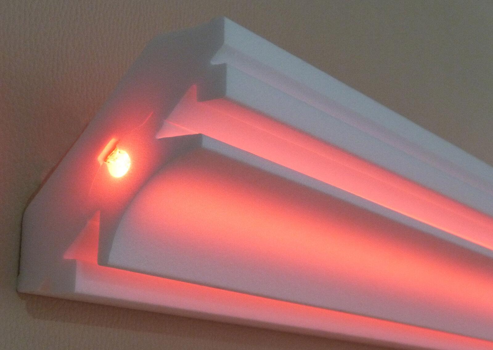 stuckleisten stuckprofile12 m 2 ecken indirekte beleuchtung led dekor s ren eur 117 50. Black Bedroom Furniture Sets. Home Design Ideas