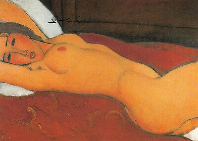 Postkarte: Modigliani - Liegender Akt