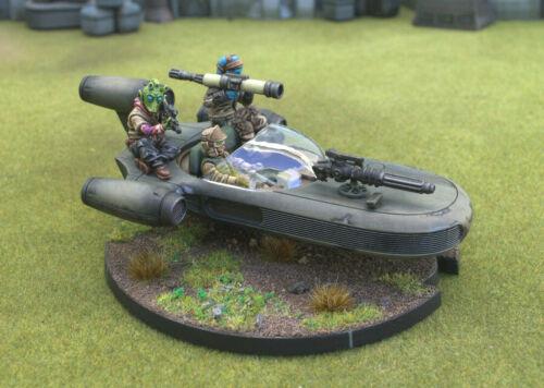 Star Wars Legion Rebel Alliance Painted Land Speeder Fleet Troopers Commandos