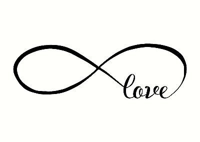 Love Infinity Wall Lettering Words Decal Vinyl Quote Sticker Decor 9  X 3
