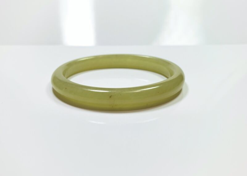 Chinese Antique Hetian Yellow Jade Bangle Qing Dynasty