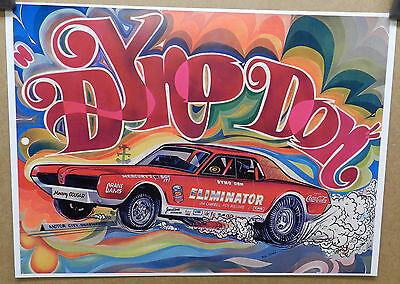 1968 DYNO DON MERCURY COUGAR COKE COCA COLA FUNNY DRAG RACING CAR CRAFT POSTER