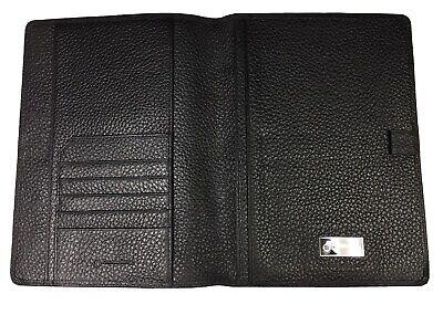Franklin Covey Black Alligator Croc Embossed Italian Leather Folio Cover Folder