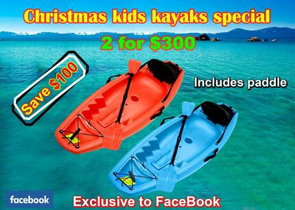 2 x dolphin kids kayaks + free paddle  $300   In stock now