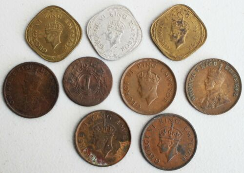 8 Coin Lot 1930-1949 Assorted India Coins Better Grade Coins India Coins K14