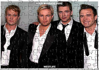 WESTLIFE  JIGSAW PUZZLE A4 120 PIECE PERSONALISED  Free PP