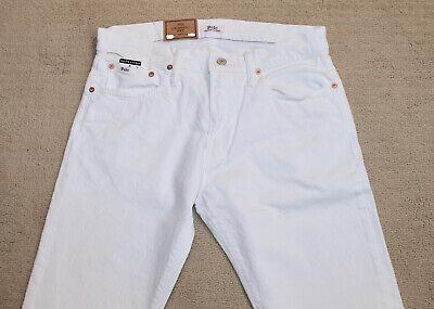 NEW Polo Ralph Lauren Classic Fit White Patch Logo Denim Jeans  ()