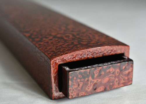 Japanese Old Lacquerware Natural Wooden Chopsticks Case : C