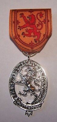 Royal Scotland Scottish Parade Medal Lion King Family Clan Arms Crest Seal COA