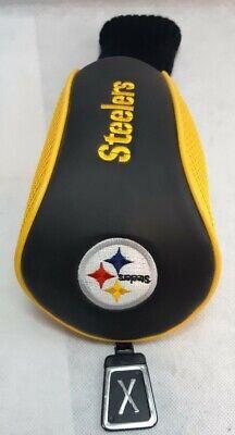 Pittsburgh Steelers Golf Club Driver Head Cover X Pittsburgh Steelers Golf Headcover