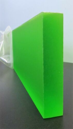 "(2) 1"" THICK X 11"" X 23 1/2"" GREEN ACRYLIC PLEXIGLASS SLAB NEW FREE SHIPPING!!"