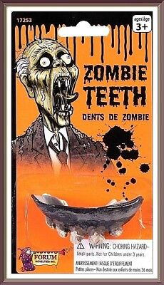 1- ZOMBIE TEETH Fake Rotted Spooky Monster Gag Joke Prank  Halloween Reusable!](Spooky Halloween Pranks)
