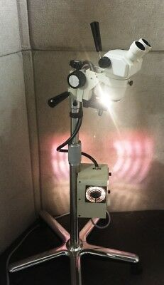 Nikon Smz-1 Microscope W Wallach Zoomstar Rolling Stand No Eye Pieces