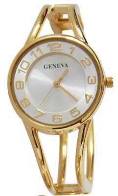 Geneva Women Watches Cuff Watch Gold ToneQuartz Fashion Analog Gold (Tone Fashion Cuff Watch)
