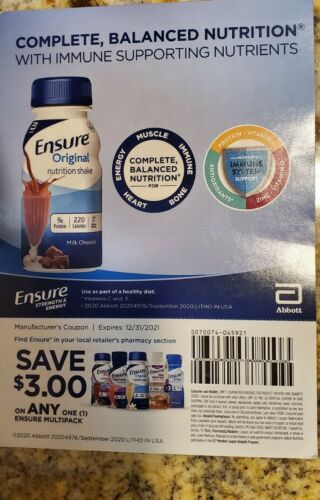 25 Ensure Coupons Save 3 On Any Multipack Enlive Max Protein Plus 12/31/21 - $23.95