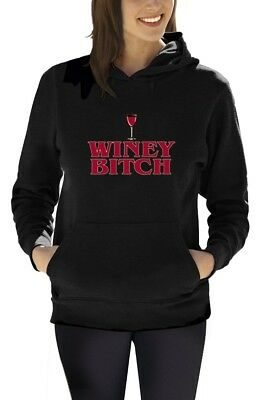 Mother's Day Fun Party Apparel Winey Bitch Top  Women Hoodie Small / Medium /