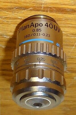 Olympus D Plan Apo 40x Uv Microscope Objective160mm Tl