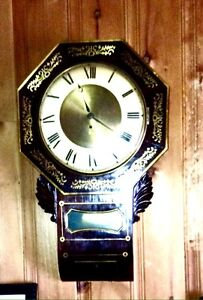 British wall clock  c1880s