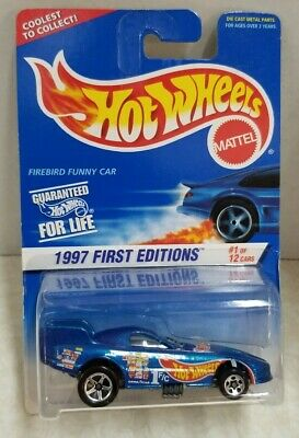 HOT WHEELS 1:64 FIRST EDITION FIREBIRD FUNNY CAR * NEW IN DAMAGED PACKAGE