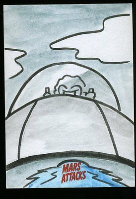 2013 Topps Mars Attacks Invasion Sketch Card by JERRY FLEMING  (a)