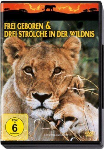 2 DVDs * Frei geboren & Drei Strolche in der Wildnis * NEU OVP