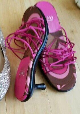 "7.5 impo sandals elastic 2.5"" heels"