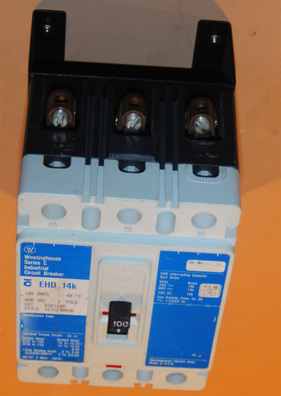 Applied Materials AMAT Circuit Breaker 100Amp Wesinghouse with Bracket