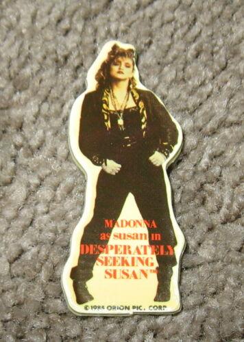 Vintage 1985 MADONNA Desperately Seeking Susan Movie Promo Pin Pinback Badge