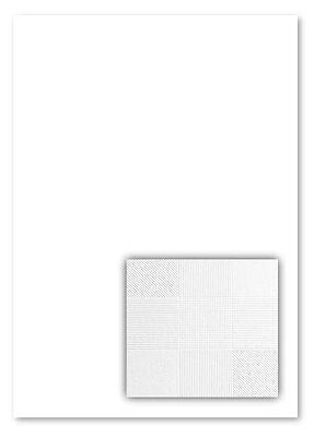 100 Blatt Gmund3 Square White Strukturpapier Feinstpapier Briefpapier Muster