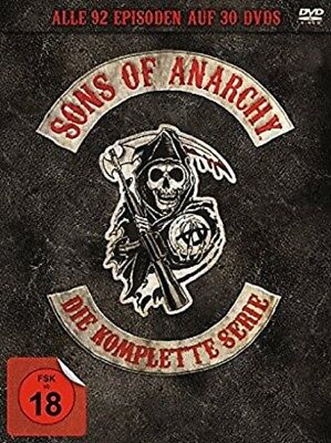 Sons of Anarchy Complete Box 30 DVDs Komplettbox Staffel 1-7 (1+2+3+4+5+6+7) NEU