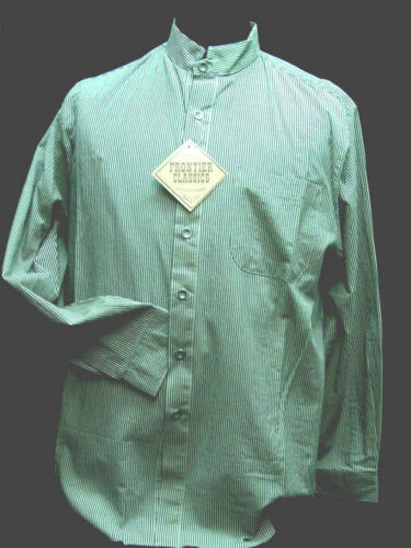 BROWN STRIPE Frontier Classics Old West shirt Cowboy  Victorian Edwardian S  XXL
