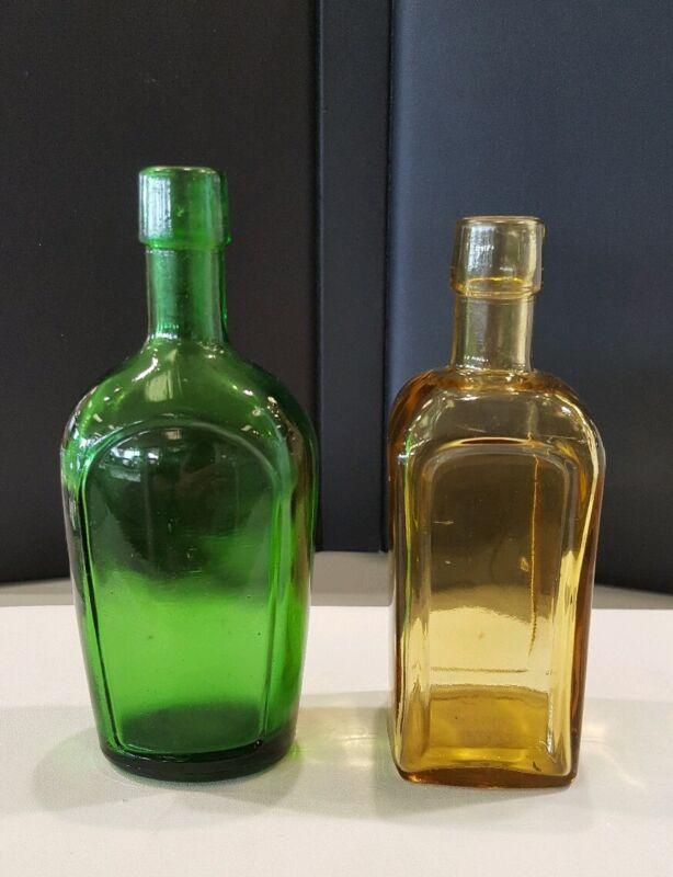 2 Vintage Wheaton Glass Bottles